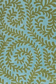"Dash and Albert Rugs- ""Vine Blue/Green"" - Tufted Wool Rug - Available @ Maryland Paint & Decorating"