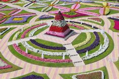 Parque mais florido do mundo. Al Ain Paradise Garden, Dubai, Emirados Árabes Unidos.