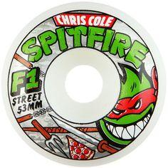 Spitfire F1 SB Cole Kung Fu Wheels (White) $29.95