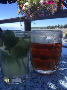 Virgin Mojito and a Sleeman Honey Brown Draught, The Shady Rest Waterfront…