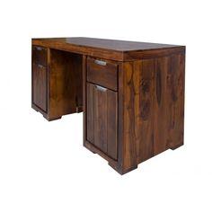 Indyjskie biurko drewniane kolonialne - Bella-decor.pl - biurka indyjskie meble z palisandru