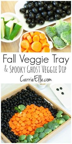 Halloween Fun with Black Olives and Veggies - this fun fall food is perfect for parties!