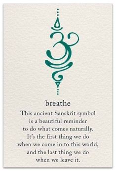 The Breathe Sanskrit symbol is calming yet motivating, just like active breathing! Take short breaks to breathe deeply throughout your day - especially if you're stressed - and you'll probably notice that you feel less exhausted by the end of it Future Tattoos, New Tattoos, Body Art Tattoos, Tatoos, Yoga Tattoos, Arabic Tattoos, Dragon Tattoos, Mini Tattoos, Saying Tattoos