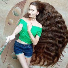 Real Life Rapunzel Russia @dashik_gubanova  See all post  #shdashik_gubanova That's a lot of hair  #shdashikgubanova