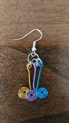 #orecchini #handmade #jewelry #colorati #multicolor #wire #spirali #spiral #colori #gioielli