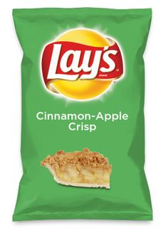 Wouldn't Cinnamon-Apple Crisp be yummy as a chip? Lay's Do Us A Flavor is back, and the search is on for the yummiest chip idea. Create one using your favorite flavors from around the country and you could win $1 million! https://www.dousaflavor.com See Rules.