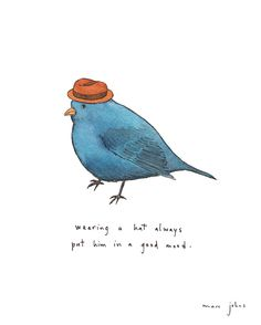Poster | WEARING A HAT ALWAYS PUT von Marc Johns | more posters at http://moreposter.de