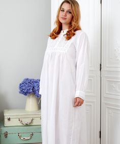 100/% Cotton Victorian Style White Cotton Strappy Short Summer Nightdress by Cottonreal Pretti