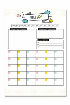 Aylık Planlayıcı BSY2 Miya Design | Trendyol To Do Planner, Daily Planner Pages, Lesson Planner, Study Planner, Blog Planner, Monthly Planner, Planner Stickers, Bullet Journal Writing, Bullet Journal Ideas Pages