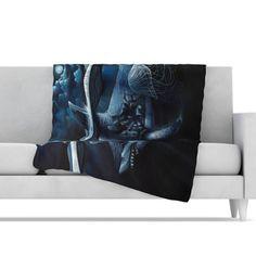 KESS InHouse Invictus Microfiber Fleece Throw Blanket