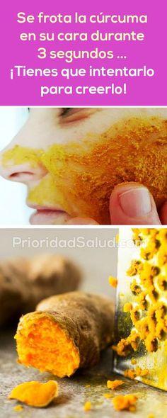 Aprovecha los increibles beneficios de la curcuma (tumeric) para tu piel. Esta mascrilla facial pondrá el cutis liso, brillante y libre de acné.