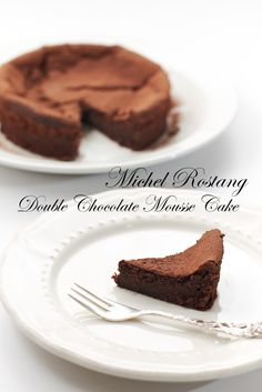 Yue's Handicrafts ~月の工作坊~: Michel Rostang's Double Chocolate Mousse Cake