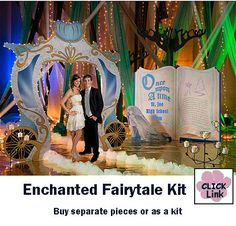 Cinderella Wedding Backdrops and kits.    Family photo station available to get all family sets at the wedding