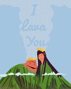 I lava you.. valentines day volcano.. disney pixar, digital download jpeg by studiomarshallarts on Etsy https://www.etsy.com/listing/263662491/i-lava-you-valentines-day-volcano-disney