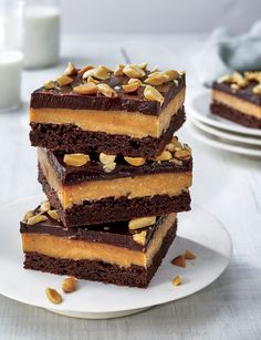 Desserts That Will Feed a Crowd_Peanut Butter-Fudge Bars - Lombn Sites Chocolate Peanut Butter Fudge, Peanut Butter Desserts, Chocolate Desserts, Chocolate Chip Cookies, Peanut Recipes, Potluck Desserts, Just Desserts, Delicious Desserts, Dessert Recipes