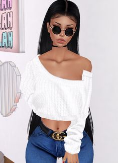 IMVU, the interactive, avatar-based social platform that empowers an emotional chat and self-expression experience with millions of users around the world. Black Love Art, Black Girl Art, Black Girls, Black Women, Dark Fashion, Fashion Art, Fashion Models, Arte Cholo, Black Girl Cartoon