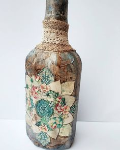 Try Something New, Decoupage, Vase, Projects, Instagram, Home Decor, Log Projects, Blue Prints, Decoration Home