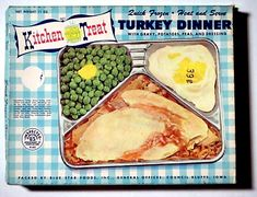 1950s+and+1960s+Food+Packaging | KITCHEN TREAT TRUKEY TV DINNER BOX - front - 1960's