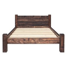 Bed Frame - Double Plank Headboard | Funky Chunky Furniture