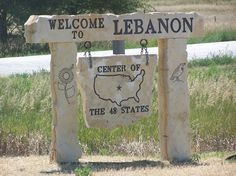 Welcome to the geographic center of the United States!  Lebanon, Kansas :)  They even have souveniers!