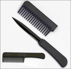 $4 CIA Covert Comb Knife / Black