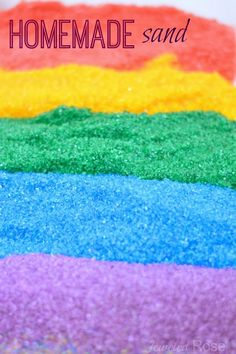 Homemade Colored Sand ~ Growing A Jeweled Rose