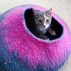Grey & Pink Cat Cave