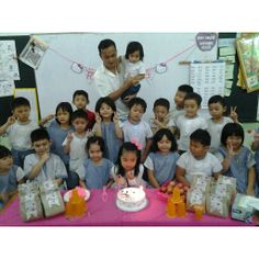 birthday girl with her classmate