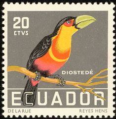 Green-billed Toucan stamps - mainly images - gallery format