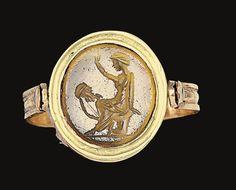 A ROMAN CARNELIAN RINGSTONE -  CIRCA 1ST CENTURY B.C.