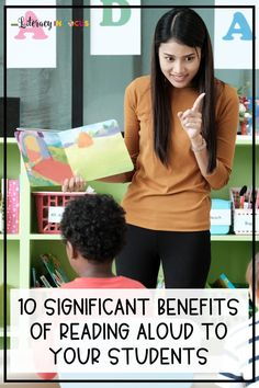 10 significant reasons to read aloud to students on a regular basis. Regularly scheduled classroom read alouds benefit students of all ages and grade levels. Reading Resources, Reading Activities, Teaching Reading, History Teachers, New Teachers, Teacher Blogs, Teacher Hacks, Social Learning Theory, Curriculum Mapping