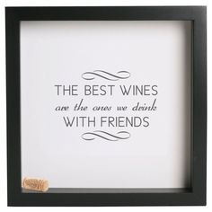 Wine Cork Holder Shadow Box - With Your Custom Saying, Quote, Date, etc.