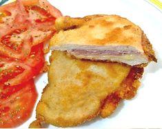 Filetites de pollo rellenos de queso y jamón crujientes