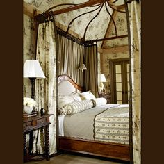 Lovely Room With Beautiful Furniture Especially The Bed Good Use