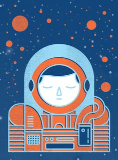 Poster | ORANGE SPACE von Chase Kunz | more posters at http://moreposter.de