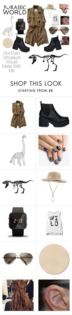 """""""JURASSIC WORLD"""" by eillen ❤ liked on Polyvore featuring Abercrombie & Fitch, Fab, alfa.K, The North Face and 1:Face"""