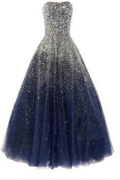 like a princess - Sequined Strapless Silk Tulle Gown! My DREAM dress! Beautiful Gowns, Beautiful Outfits, Gorgeous Dress, Tulle Gown, Satin Tulle, Strapless Gown, Dream Dress, Look Fashion, Dress Fashion