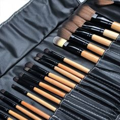 32Pcs/set Professional Makeup Brush Set Top Quality PU Leather Make Up Tool Set #Unbranded