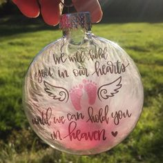Your place to buy and sell all things handmade In Memory Christmas Ornaments, Clear Ornaments, Memorial Ornaments, Christmas Balls, Christmas Angels, Christmas Fun, Diy Holiday Gifts, Holiday Crafts, Custom Baby Gifts