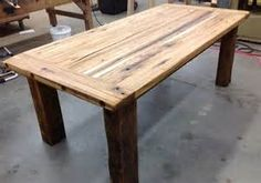 Reclaimed Wood hand crafts custom, reclaimed wood tables made from recycled barnwood. Kitchen Farm Table, Farmhouse Table, Dining Room Table, Reclaimed Wood Table Top, Diy Table Top, Into The Woods, Round Dining, Rustic Decor, Classic