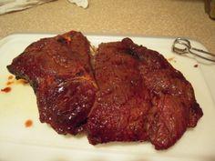 mustard grilled pork roast.