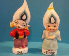 Devil and Angel Salt and Pepper Shakers : Figurines Boy and Girl Shakers (03/21/2014)