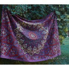 elephant psychedelic mandala star tapestry