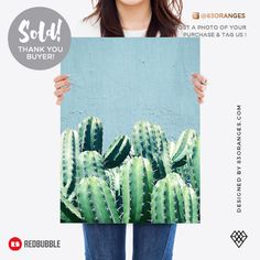 Just sold a Poster of my artwork titled 'Cactus + Teal'! Order yours or see all #redbubble products carrying this design here: https://www.redbubble.com/people/83oranges/works/23359006-cactus-and-teal-redbubble-lifestyle?p=poster&finish=semi_gloss&size=large