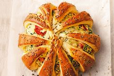 Spinach and ricotta crescent buns main image