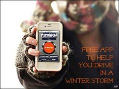 Free Survival App Helps You Drive in Winter Storms