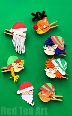 Oh my, how FUN FUN FUN are these Easy Christmas Clothespin Puppets DIY complete with printables? Super fun Santa, Elf and Reindeer Clothespin Craft Sunset Rock ~ Blending paints to create a sunset on a rock Red Fun Crafts For Kids, Diy Arts And Crafts, Craft Stick Crafts, Crafts To Do, Diy For Kids, Easy Crafts, Crafts Cheap, Easy Diy, Craft Ideas