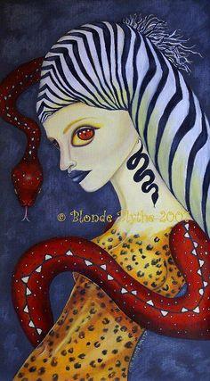 [Fantasy art] Animal Magnetism by blondeblythe at Epilogue