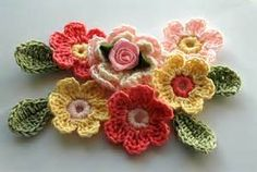 Pink and Yellow Crochet Applique | Flickr - Photo Sharing!