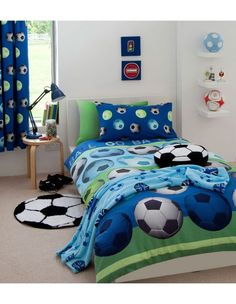 Kids soccer bedding sets for sale from different retailers. Get the right kids soccer bedding for your little soccer enthusiast, at the right. Full Duvet Cover, Double Duvet Covers, Single Duvet Cover, Duvet Cover Sets, Quilt Cover, Comforter Cover, King Comforter, Football Bedding, Football Bedroom